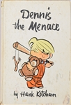 Dennis The Menace Signed sketch in book