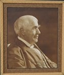 Thomas Edison Fine Signed Portrait