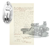1883 Chicago Ball Club Signed  Albert G. Spalding Agreement to Telegraph the Scores During Game!