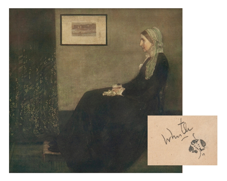 James McNeill Whistler Signed Print of Whistler's Mother