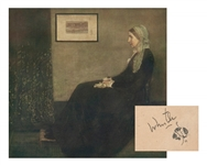 "James McNeill Whistler Signed Print of ""Whistlers Mother"""