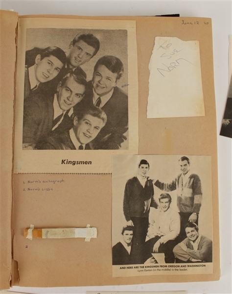 AUTOGRAPH SCRAPBOOK FROM BANDS OF THE 60S