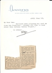 Stan Laurel- Lot of 2 Signed Letters