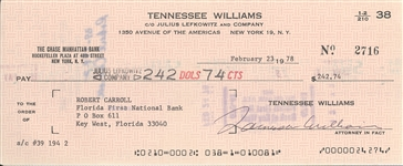 Tennessee Williams Check