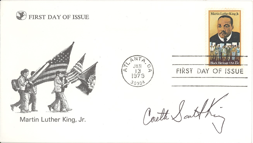 Coretta Scott King Signed First Day of Issue