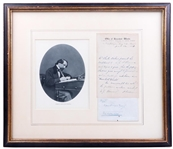 Charles Dickens handwritten and signed letter and envelope