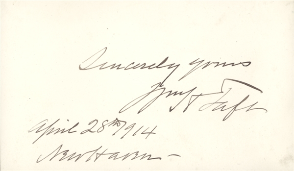William Taft TLS and signed card