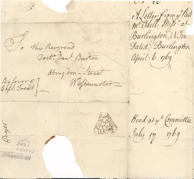 Rare Colonial U.S. Mail to England