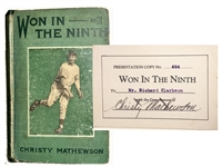 1910 Christy Mathewson Signed Book (Won In The Ninth Signed )