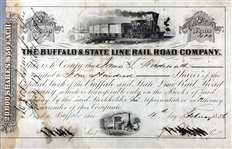 Buffalo & State Line Rail Road Company signed by James S. Wadsworth