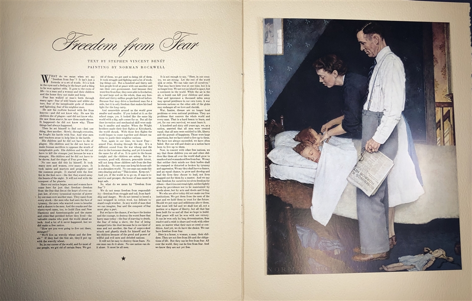 Norman Rockwell Signed The Four Freedoms Presentation booklet