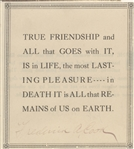 Frederick A. Cook ALS And Signed Quotation(Explorer North Pole)