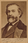 GIUSEPPE VERDI SIGNED PHOTO