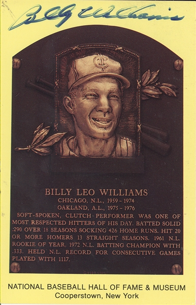 Chicago Cubs Lot- Ernie Banks, Billy Williams