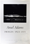 "Ansel Adams Signed  poster for ""Images 1923-1974"