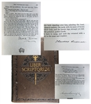 Liber Scriptorum; Signed Stories by Mark Twain, Theodore Roosevelt and Carnegie as well as 106 other authors! Limited to 251 Copies