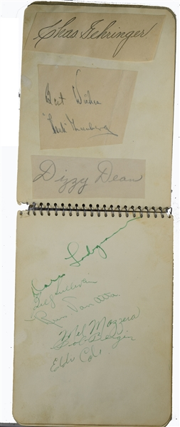 Signed Album With Lou Gehrig, DiMaggio, Williams and Over a 100 Baseball Autographs