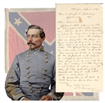 Incredible and Extremely important Period letter from  P. G. T. Beauregard designing the Confederate Flag!