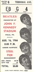 Rare Beatles August 16, 1966 Concert Ticket