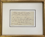 Ambroise Thomas Signed Calling Card