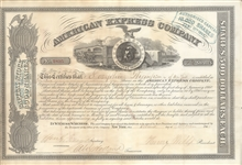 Henry Wells &  William Fargo Signed Stock
