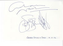 Crosby, Stills, and Nash Signed Page
