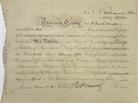 Robert Morris Signed North American Land Company