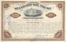 Standard Oil signed by John D. Rockefeller and Henry Flagler