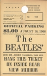 Very Rare Beatles Original parking pass for 8/16/66, JFK Stadium Concert
